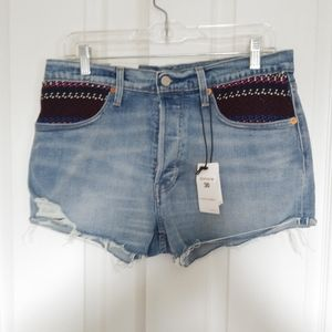 Levis Made & Craftes 501 High Rise Jean Shorts 30